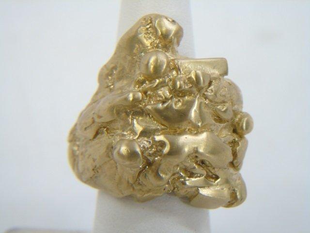 Contemporary Israeli Designer Gold Nugget Ring - 2