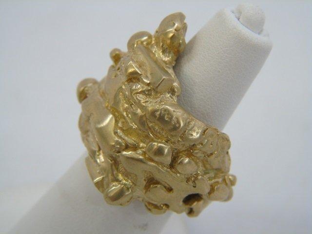 Contemporary Israeli Designer Gold Nugget Ring - 5