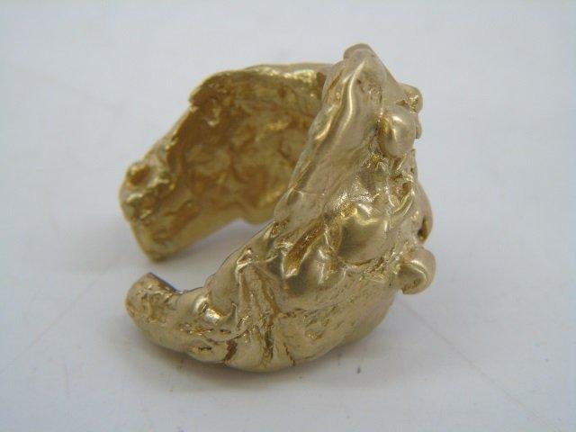 Contemporary Israeli Designer Gold Nugget Ring - 6