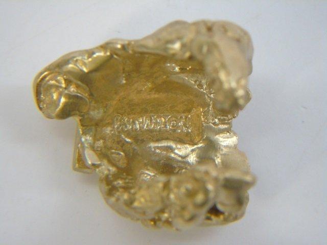 Contemporary Israeli Designer Gold Nugget Ring - 8