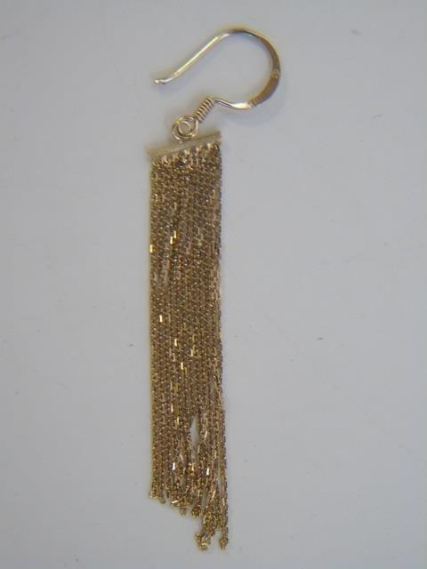 Contemporary Designer Vermeil Fringe Earrings - 4