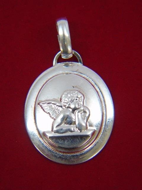 Four Sterling Silver Pendants w Cupids - 3