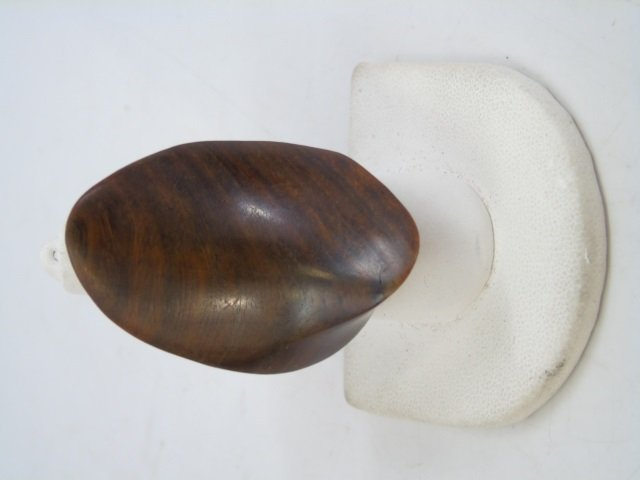 Contemporary Haitian Carved Wood Cuff & Ring - 9