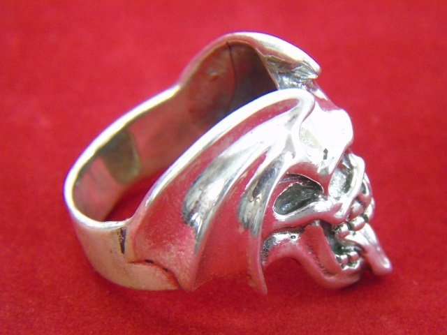 Two Contemporary Sterling Silver Skull Rings - 5