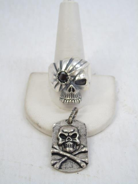 Contemporary Sterling Silver Skull Jewelry Items