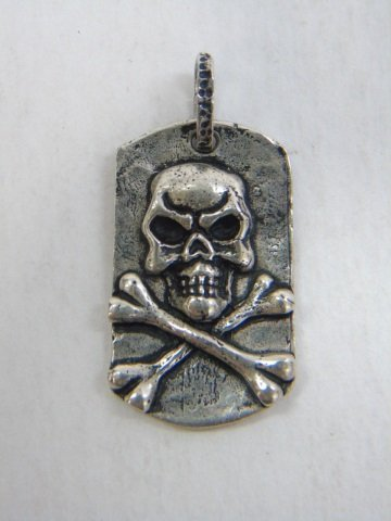 Contemporary Sterling Silver Skull Jewelry Items - 6