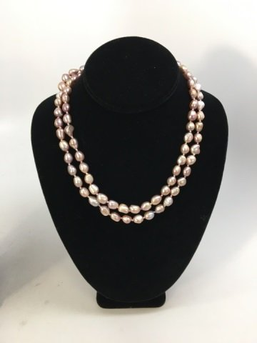 Two Grey & Silver Baroque Pearl Necklace Strands - 4