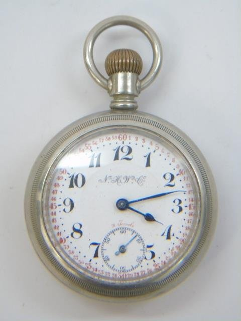 Two Antique Men's Train Motif Pocket Watches - 4