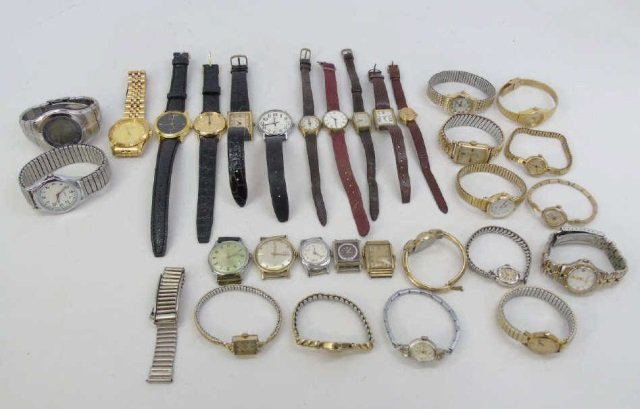 Estate Lot of 30 Vintage Wrist Watches