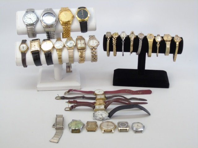 Estate Lot of 30 Vintage Wrist Watches - 5