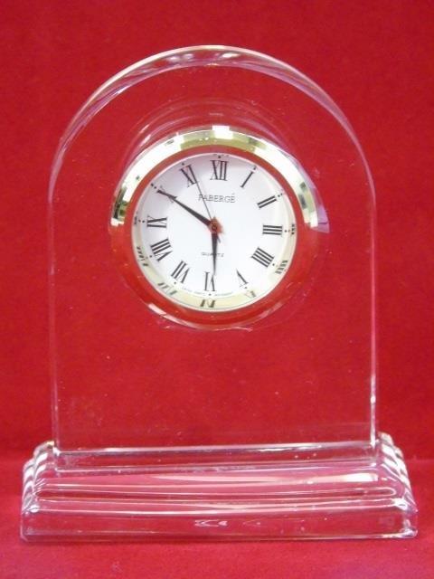 Faberge Glass Clock in Original Box