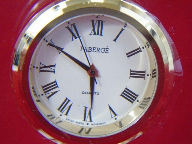 Faberge Glass Clock in Original Box - 2