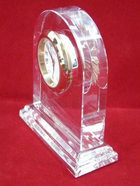Faberge Glass Clock in Original Box - 3