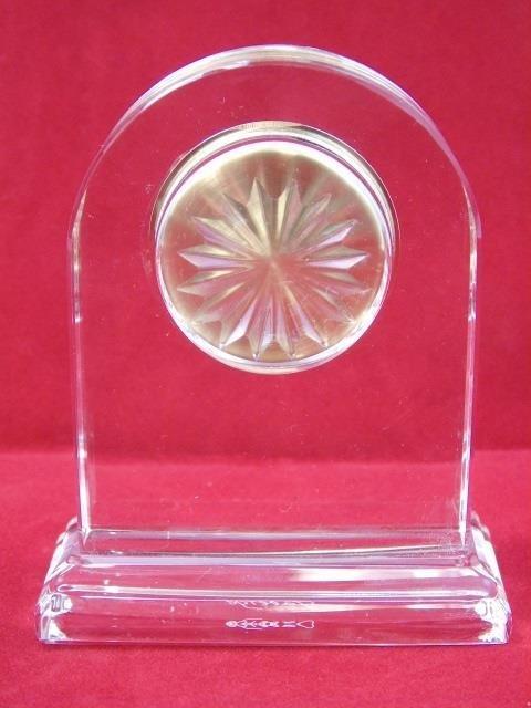 Faberge Glass Clock in Original Box - 4