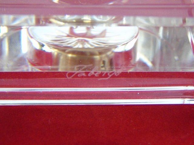 Faberge Glass Clock in Original Box - 5