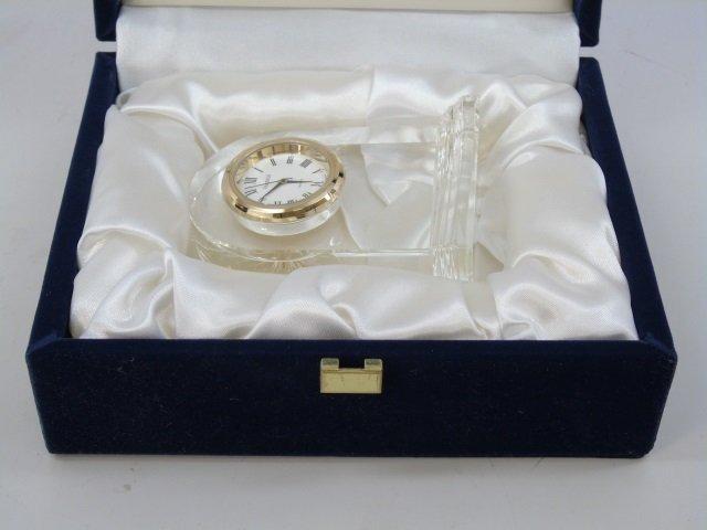 Faberge Glass Clock in Original Box - 7