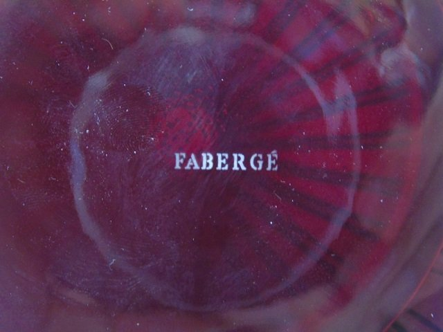 Faberge Ruby Glass Decanter in Original Box - 3