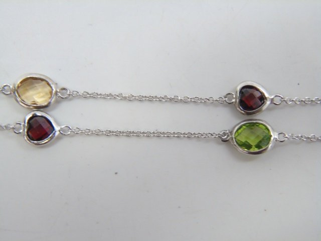 Sterling Silver Diamond by the Yard Style Necklace - 2