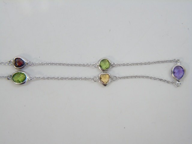 Sterling Silver Diamond by the Yard Style Necklace - 3