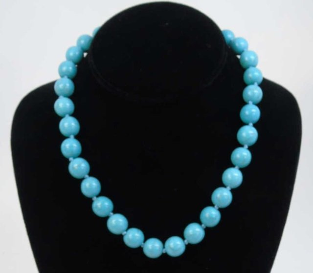 Native American Style Turquoise Bead Necklace