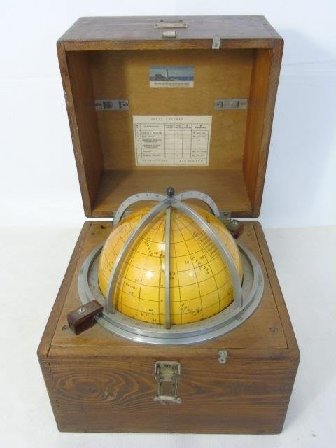 Russian Navigational Ship's Globe in Box
