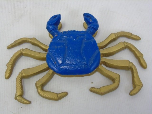 Three Hand Painted Metal Crab Motif Door Knockers - 3