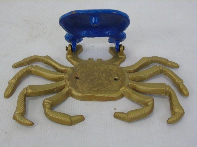 Three Hand Painted Metal Crab Motif Door Knockers - 4