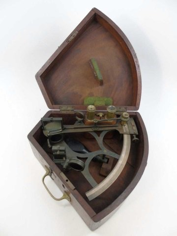 Antique Liverpool Ship Sextant by Anslem in Box