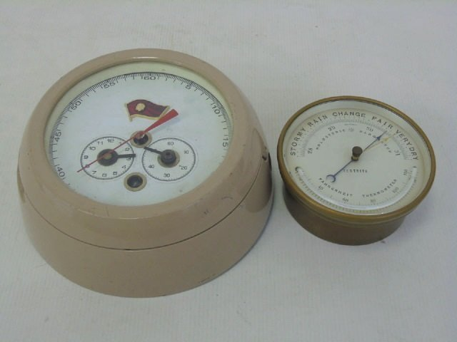Two Vintage Nautical Clocks - Including Testrite