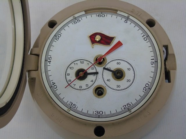 Two Vintage Nautical Clocks - Including Testrite - 3