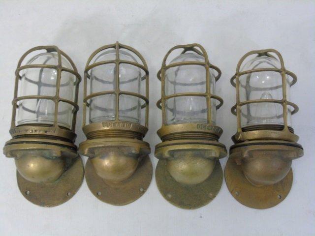 Four Vintage Oceanic Nautical / Ship Lanterns
