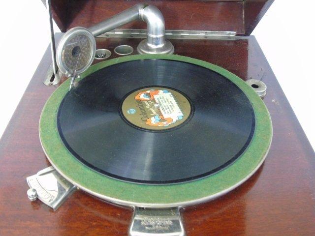 Vintage Carved Mahogany Gramophone Music Box - 7