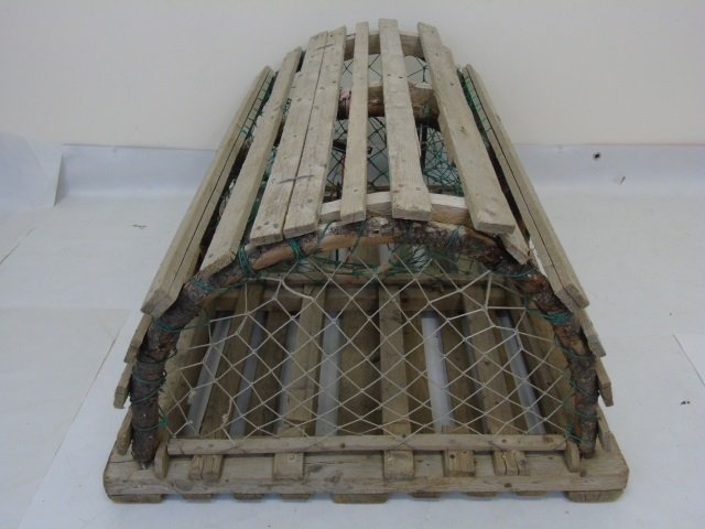 Two Vintage Wooden Lobster Traps - 2