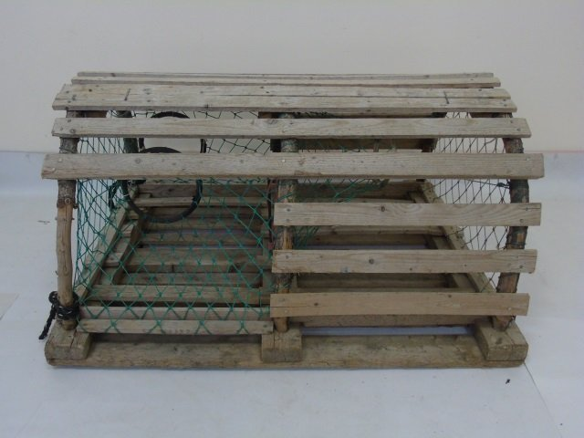 Two Vintage Wooden Lobster Traps - 3