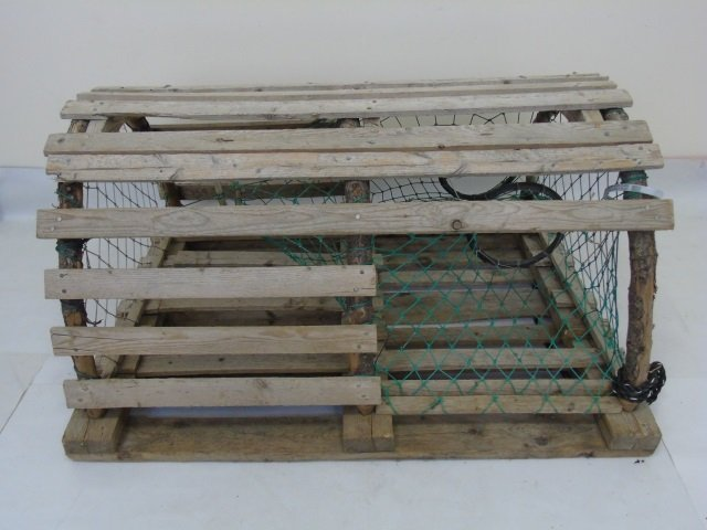 Two Vintage Wooden Lobster Traps - 4