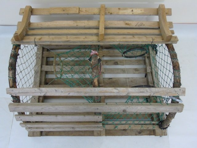 Two Vintage Wooden Lobster Traps - 5