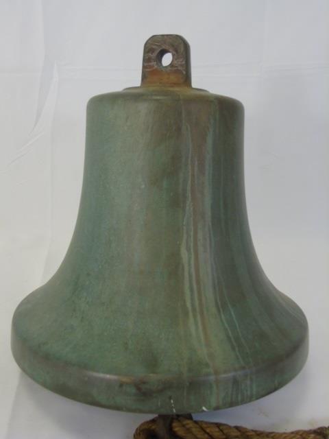 Heavy Cast Bronze Nautical / Ship Bell - 4