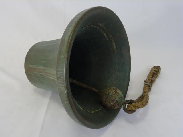 Heavy Cast Bronze Nautical / Ship Bell - 5