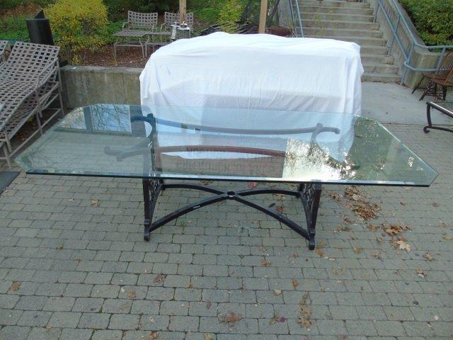 Brown Jordan Outdoor /  Scrollwork Dining Table - 2