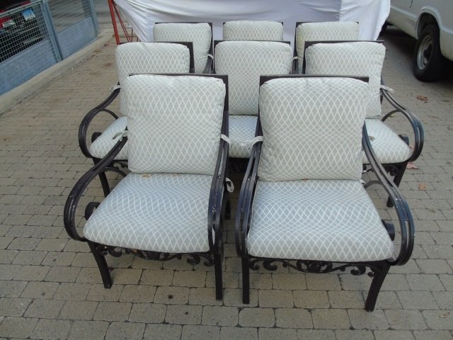 Brown Jordan Pineapple Motif Outdoor Dining Chairs