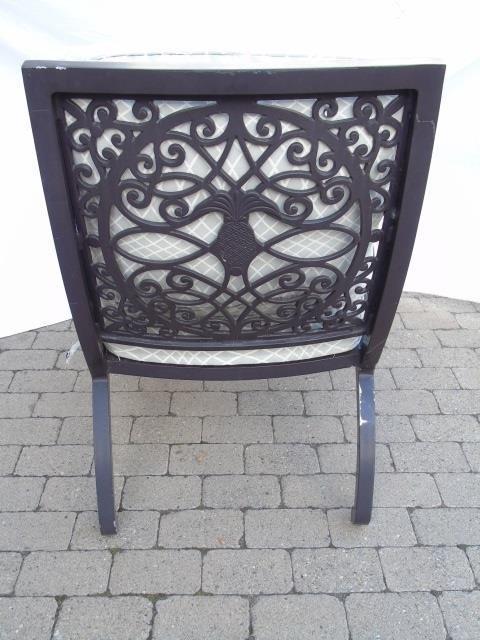 Brown Jordan Pineapple Motif Outdoor Dining Chairs - 4