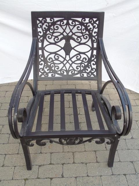 Brown Jordan Pineapple Motif Outdoor Dining Chairs - 5