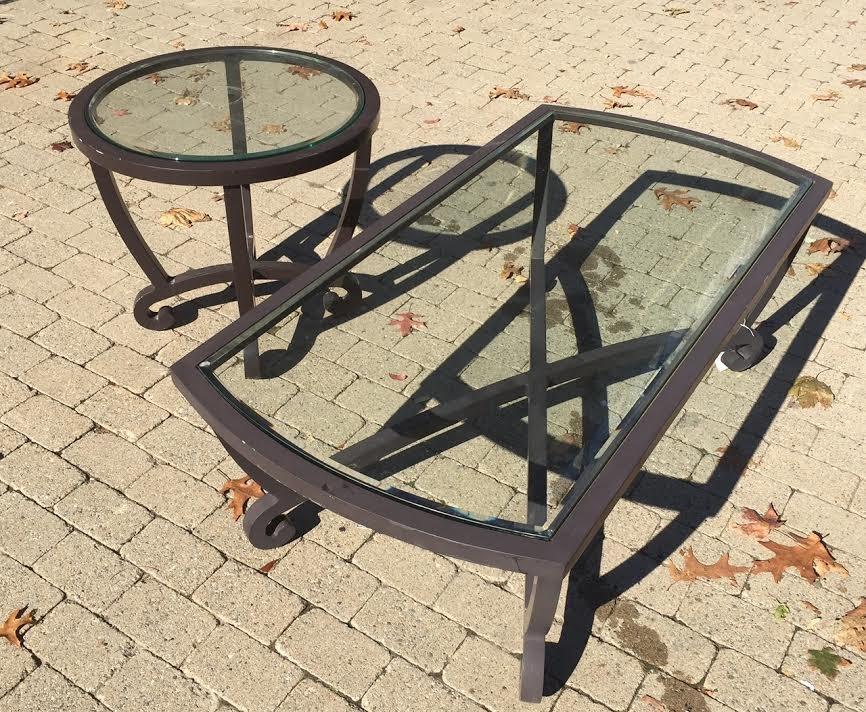 Brown Jordan Outdoor Coffee Table & End Table