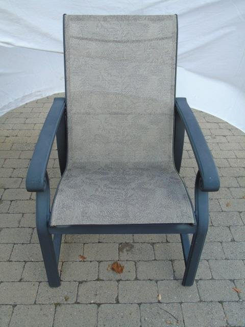 Pair Contemporary Patio / Deck Chairs & End Table - 2