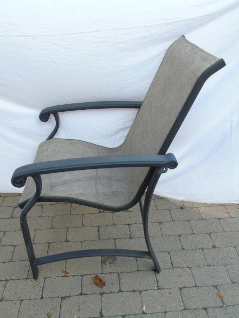 Pair Contemporary Patio / Deck Chairs & End Table - 3
