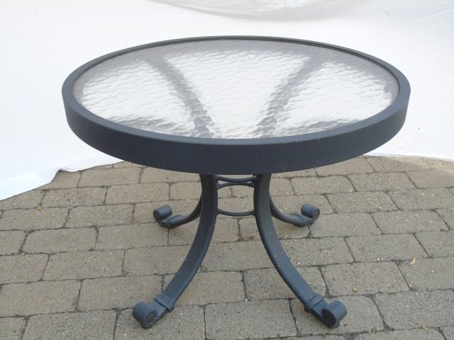 Pair Contemporary Patio / Deck Chairs & End Table - 5