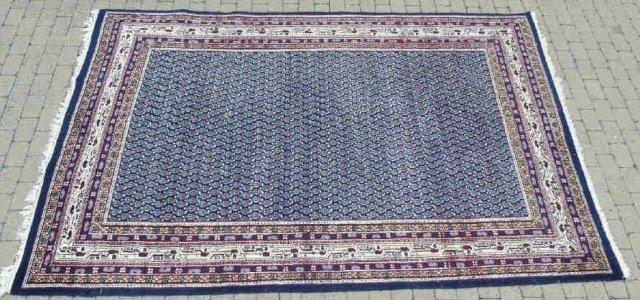 Contemporary Wool Blue Van Meeuwen Carpet