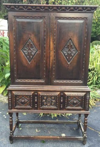 Antique Hathaway Furniture Jacobean Style Cupboard