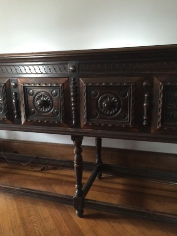 Antique Hathaway Furniture Jacobean Style Console - 6