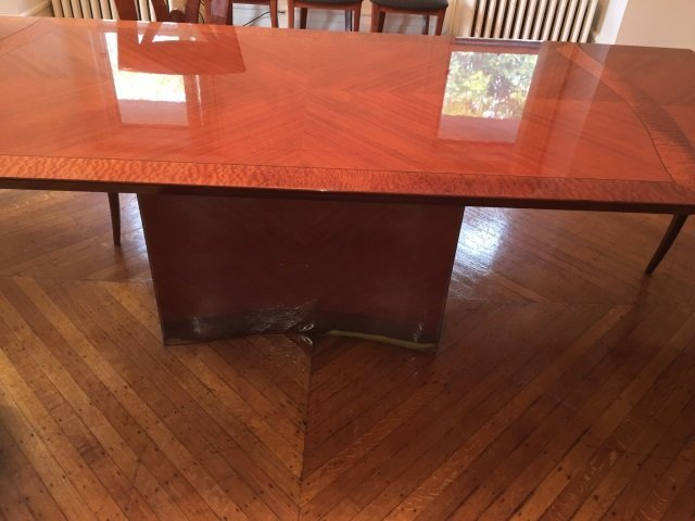 Contemporary Modern Lacquered Wood Dining Table - 2